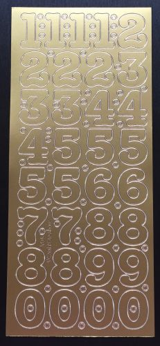 Large Peel Off Number Stickers Gold
