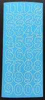 Large Peel Off Number Stickers Blue