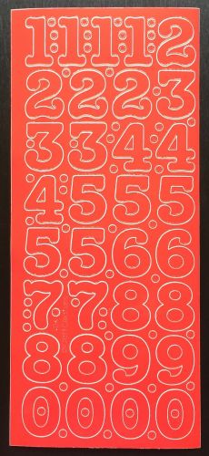 Large Peel Off Number Stickers Red