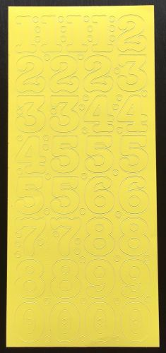 Large Peel Off Number Stickers Yellow