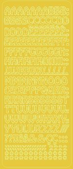 Peel Off Uppercase Alphabet Gold