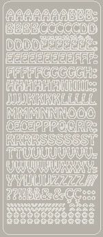 Peel Off Uppercase Alphabet Silver