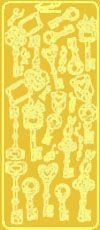 Gold Keys Peel Off Stickers