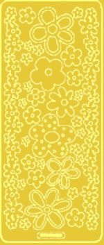 Pop Flowers Peel Off Gold