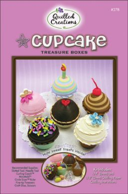 Cupcake Treasure Boxes Quilling Kit