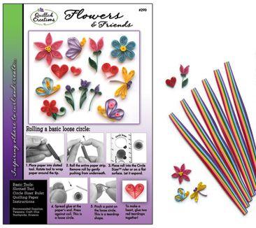 Flowers & Friends Quilling Kit