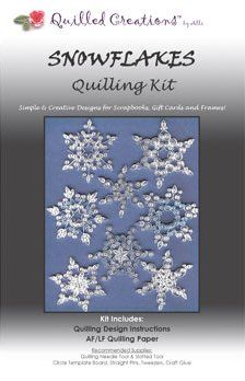 Snowflakes Quilling Kit (OUT OF STOCK)