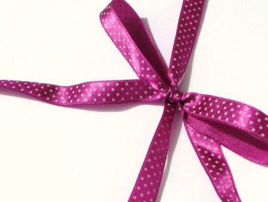 Polka Dot Ribbon Roll Purple