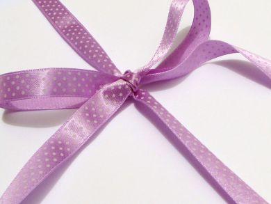 Polka Dot Ribbon Roll Lilac