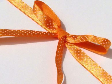 Polka Dot Ribbon Roll Orange