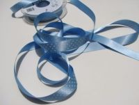15mm Pale Blue Polka Dot Ribbon