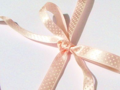 Polka Dot Ribbon Roll Pastel Pink
