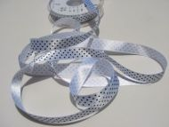 15mm White Polka Dot Ribbon