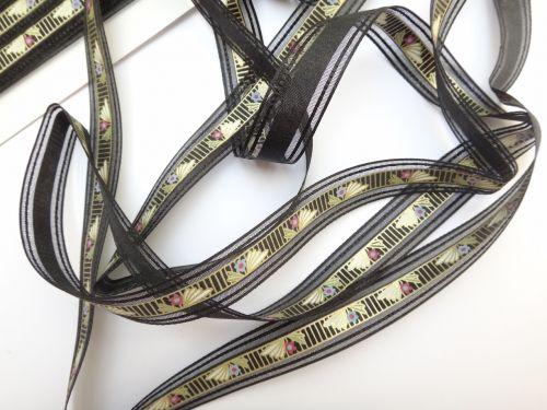 Art Deco Style Ribbon Black