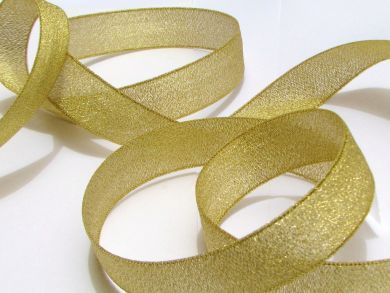 Metallic Ribbon Gold Wide