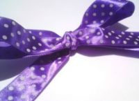 Purple Polka Dot Ribbon Roll