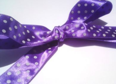 Purple Polka Dot Ribbon Roll