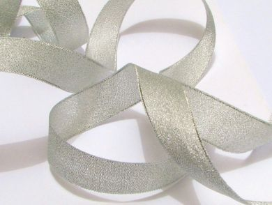 Metallic Ribbon Silver Wide