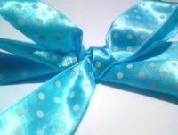 Turquoise Polka Dot Ribbon Roll