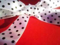 White Polka Dot Ribbon Roll