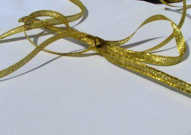 Metallic Ribbon Gold