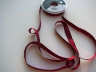 10mm Grosgrain Ribbon Dark Red