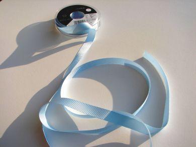 10mm Grosgrain Ribbon Pale Blue