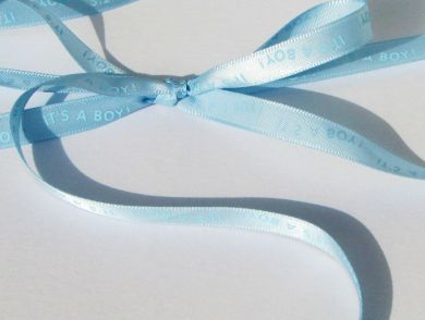 Blue Baby Boy Ribbon