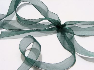 Forest Green Organza Ribbon