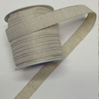 15mm Distressed Cotton Ribbon Natural