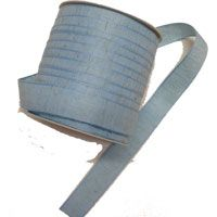 15mm Distressed Cotton Ribbon Baby Blue