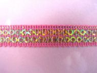 Pink Sequinned Ribbon
