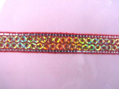 Red Sequinned Ribbon