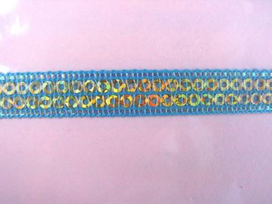 Turquoise Sequinned Ribbon
