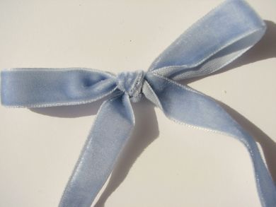 6mm Pastel Blue Velvet Ribbon