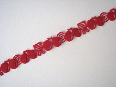 Red Balloons Felt Border