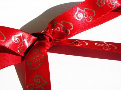 Duet Hearts Ribbon Red