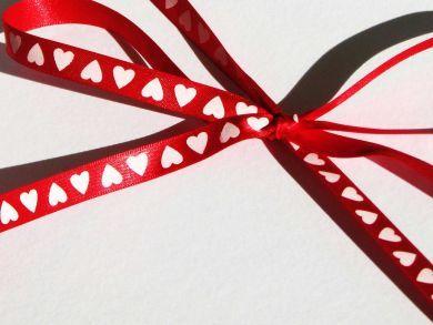 Hearts Ribbon Red