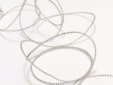 Silver Beaded String