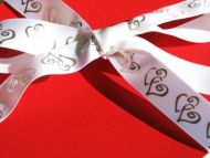 Duet Hearts Ribbon White