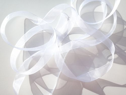 Super Sheer Ribbon White