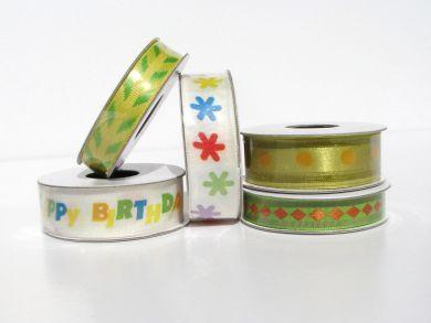Yellow Birthday Ribbon