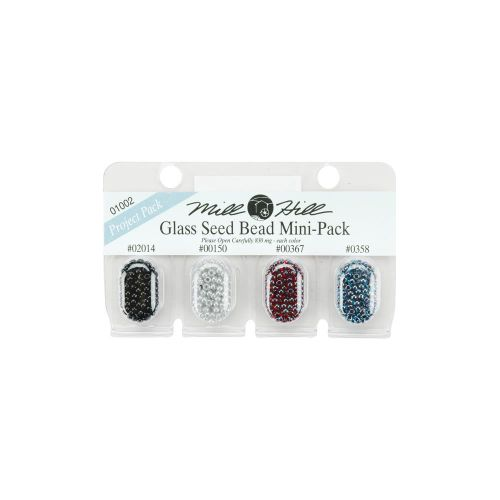 Glass Seed Beads Mini Pack Dark Colours