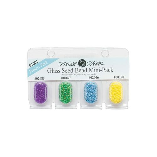 Glass Seed Beads Mini Pack Bright Colours