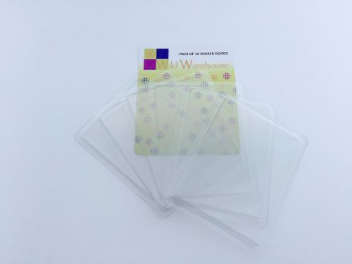 Transparent Plastic Shaker Domes Rectangle