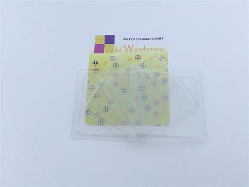 Transparent Plastic Shaker Domes Square