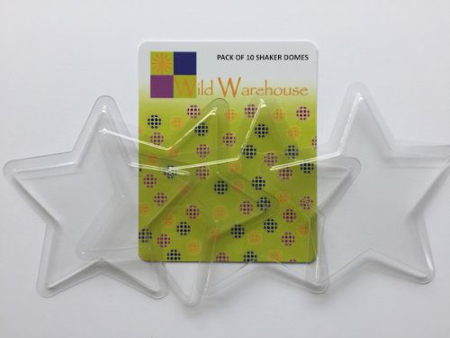 Transparent Plastic Shaker Domes Star