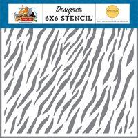 Zebra Print 6 x 6 Stencil