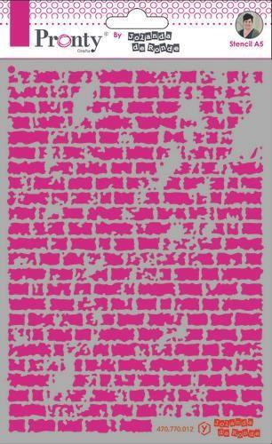 Distressed Brick Wall Stencil