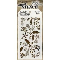 Tim Holtz Layering Stencil Festive (DISCONTINUED)